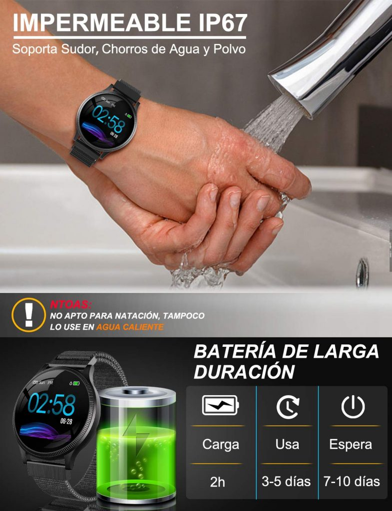 SmartWatch Impermeable IP67