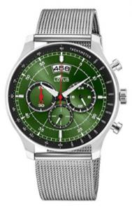 Lotus Reloj Cronógrafo para Hombre de Cuarzo con Correa en Acero Inoxidable 10138-2