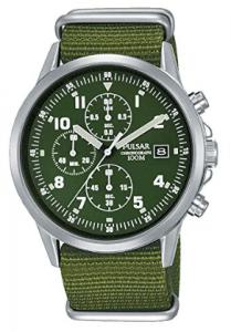 Pulsar PM3127X1 - Reloj cronógrafo para Hombre, Estilo Militar