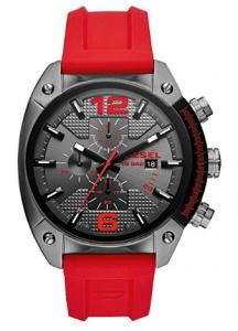 Diesel Reloj Cronógrafo para Hombre de Cuarzo con Correa en Silicona