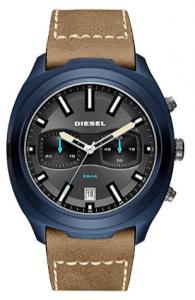 Diesel Reloj Cronógrafo para Hombre de Cuarzo con Correa en Cuero DZ4490